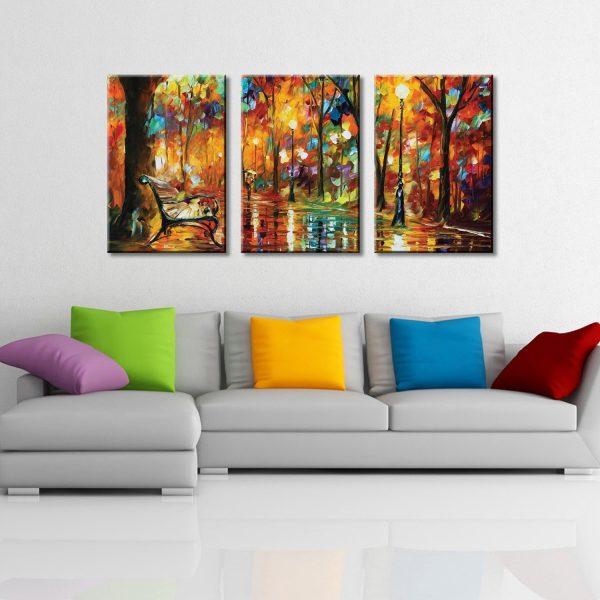 Colorful Night 3 Piece Canvas Set by Leonid Afremov
