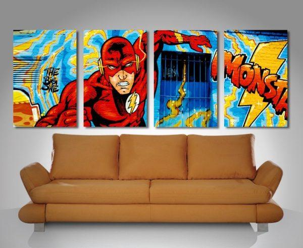 Comic Book 4 Panel Split Canvas