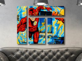 Comic Book Mixed 4 Panel Canvas Print