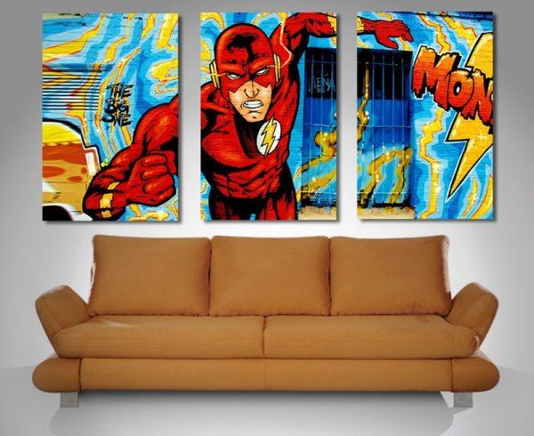 Comic Book Triptych Canvas Print.