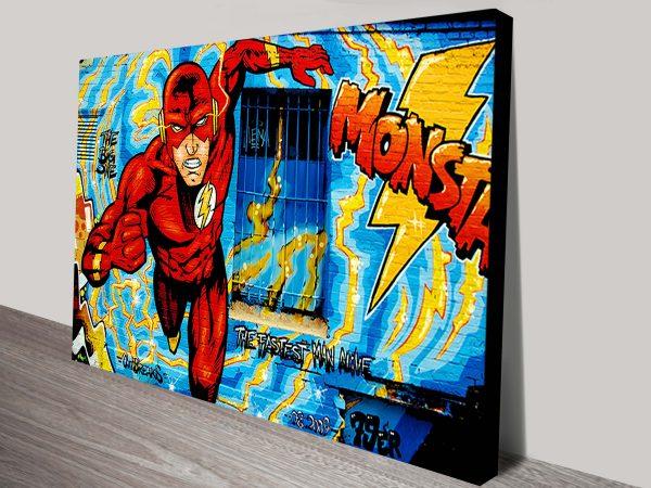 flash marvel graffii canvas print