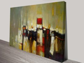 Daybreak Abstract Composition Canvas Wall Art