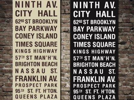 Coney Island Subway Sign Art
