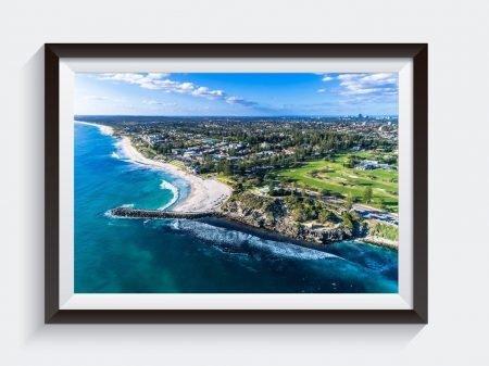 Cottesloe Views Matt Day Aerial Photo Framed Wall Art