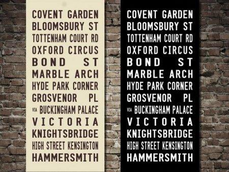 Covent Garden London Bus Art Tram Scroll