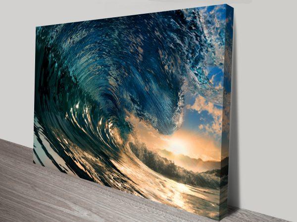 Crystal Waves Canvas Art