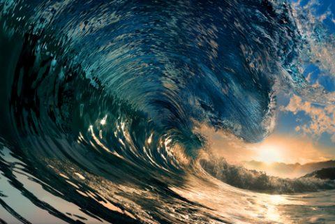 Sunset Wave Wall Art Australia