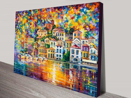 Dream Harbour leonid afremov canvas print