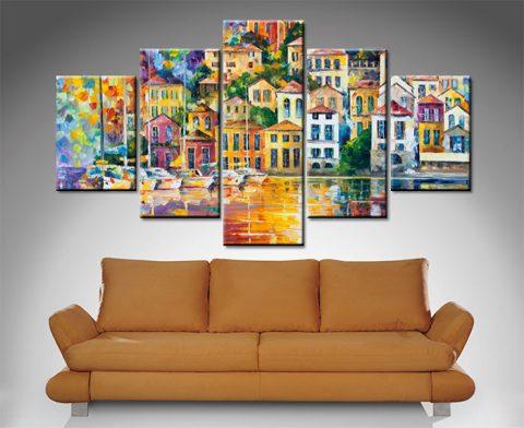 dream harbor 5 panel wall art canvas print