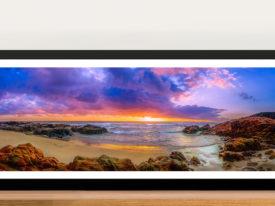Sunset Bay Panoramic Art Melbourne Framed Wall Art