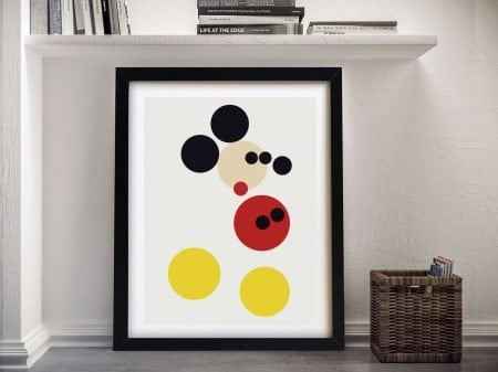 Damien-Hirst-Mickey Mouse Framed Wall Art Picture