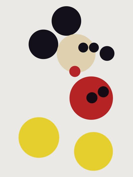 Mickey Circles Damian Hirst Canvas Art Decor Australia