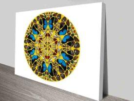 Damien Hirst Clock Canvas Print Australia