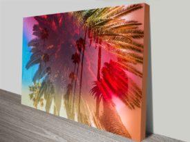 Dancing Palm Trees Wall Art Canvas Art Print Photo