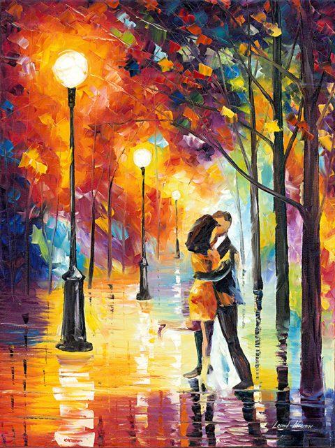 Dancing in the Rain Leonid Afremov Print