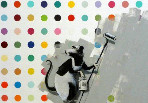 Damien Hirst Banksy Rat Art