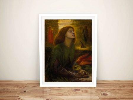 Beata Beatrix Fine Art Painting by Dante Gabriel Rosseti Print
