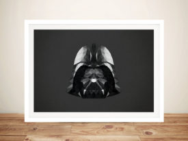 Darth Vader Head Art Framed Wall Art Picture