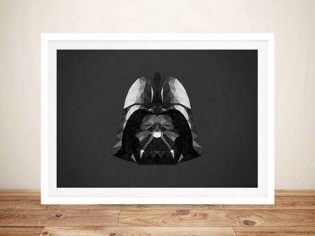 Darth Vader Head Art Framed Wall Art Picture