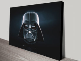 Darth Vader Helmet front Canvas print
