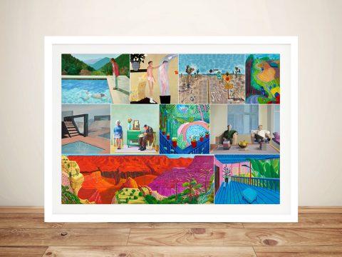 David Hockney Collage Framed Wall Art Australia