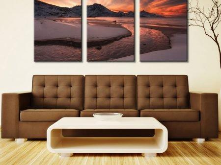 Dawn Estuary Arctic Circle Triptych Art