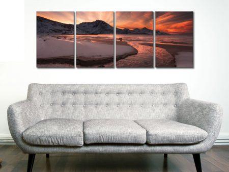 Dawn Beach 4 Panel Split Canvas