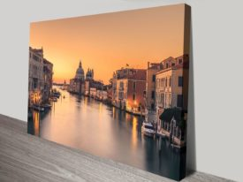 Dawn on Venice canvas print