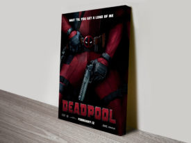 Deadpool Movie Poster Canvas Print