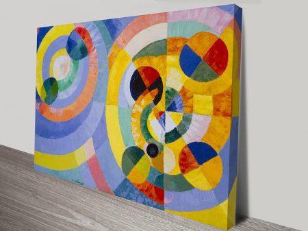 Circular Forms Abstract Wall Art Print