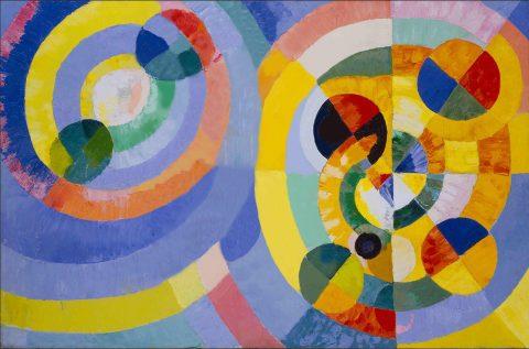 Delaunay Circular Forms Canvas Print