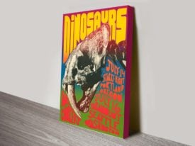 Dinosaurs Poster Wall Art on Canvas