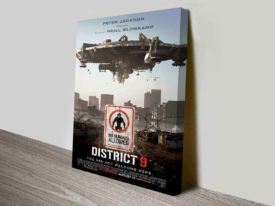 District 9 Movie Poster on Canvas