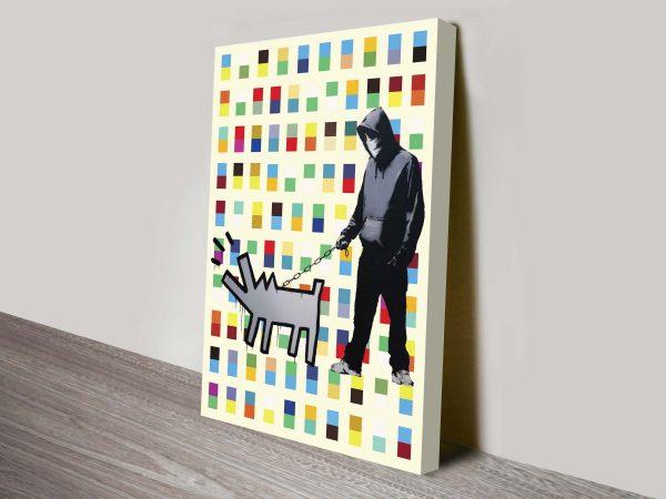 Banksy Haring Dog Walker Print