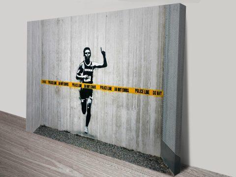 Dont cross the line Banksy Art Print