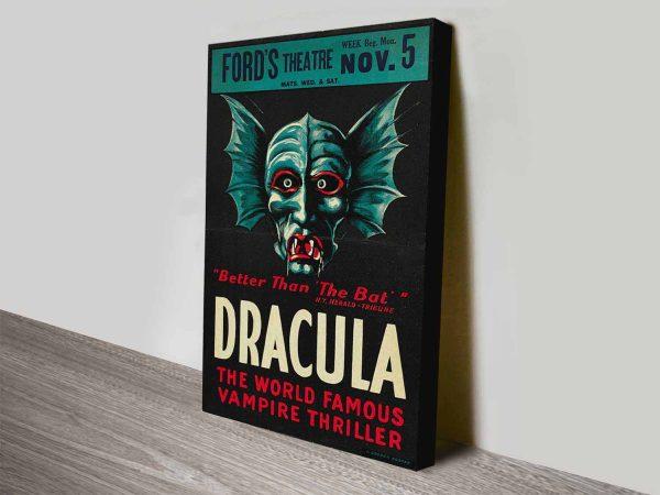 The Original Dracula Movie Poster Canvas Print