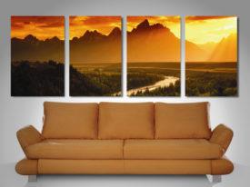 dream valley 4 panel canvas print