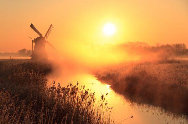 Dusk Sentinel Windmill Photo Art