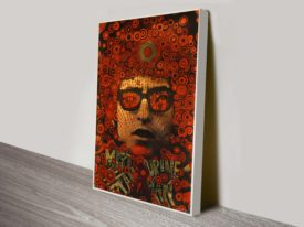 Bob Dylan poster 66 Wall Art on Canvas