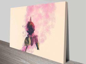 rose and smoke romance custom framed print online