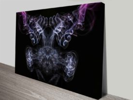 beauty of aerodynamics purple and white custom canvas art