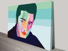 Elvis Wall Pop Art Canvas Print
