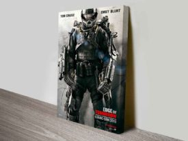 Edge of Tomorrow Movie Poster on Canvas