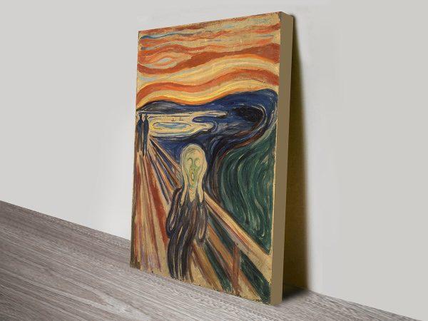 The Scream Edvard Munch Classical Wall Art On Canvas