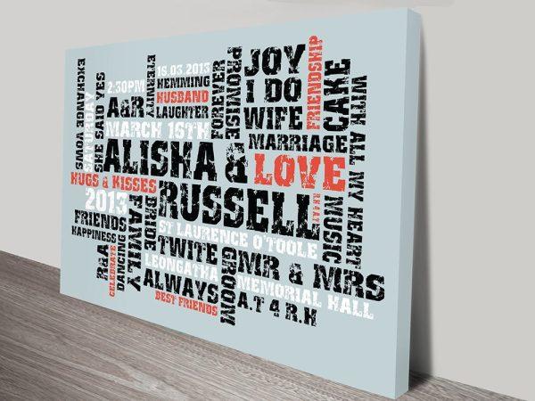 Wedding gift ideas Art