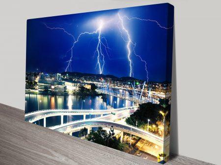 Electric Lightning Brisbane canvas print
