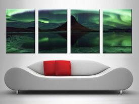 Enchanting Aurora Borealis 4 Panel Set