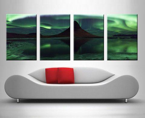 Enchanting Aurora Borealis 4 Panel