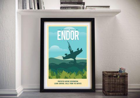 Endor Travel Poster Framed Wall Art