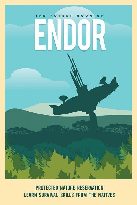 endor star wars poster art